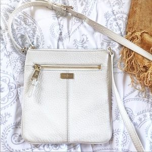 Cole Haan Womens White Leather Crossbody Bag EUC